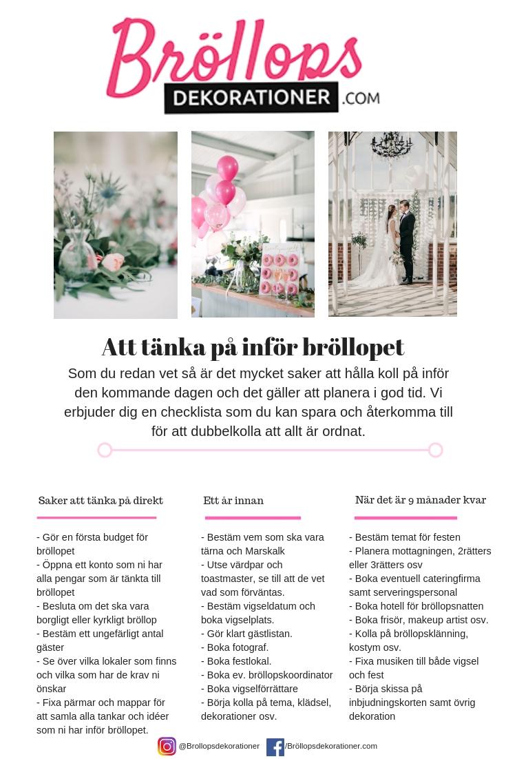 16b32f0204a1 Tips inför bröllopet – del 4 | Bröllopsinspiration